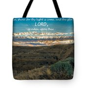 Light Of The Lord Tote Bag