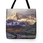 Light On Maroon Bells Tote Bag