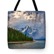 Light On Moran Tote Bag by Greg Norrell