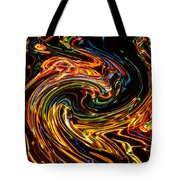 Light Painting 2 Tote Bag by Delphimages Photo Creations