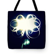 Light Painting Flower Tote Bag