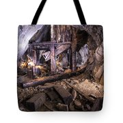 Light Painting In A Gold Mine 2 Tote Bag
