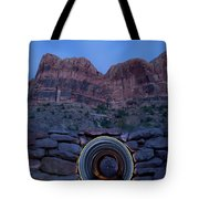 Light Painting Inside A Round Tunnel Tote Bag