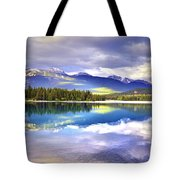 Light Play At Lake Annette Tote Bag