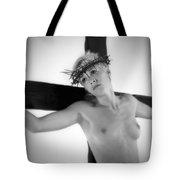 Light Portrait Of A Female Christ Tote Bag