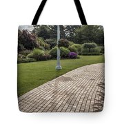 Light Post And Walkway At Michigan State University Tote Bag