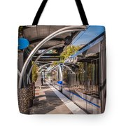 Light Rail Train System In Downtown Charlotte Nc Tote Bag