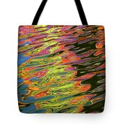 Light Reflections On The Water At Pleasure Island In Disney World Tote Bag