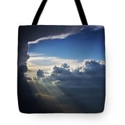 Light Shafts From Thunderstorm II Tote Bag