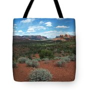 Light Shines On Cathedral Rock Tote Bag