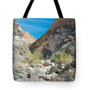 Light Side And Dark Side In Big Painted Canyon In Mecca Hills-ca Tote Bag
