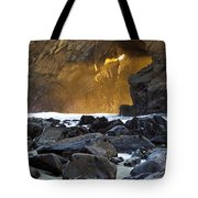 Light Through The Keyhole Arch Tote Bag