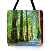 Light Through The Redwoods Tote Bag