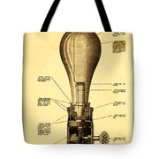 Lightbulb Patent Tote Bag by Digital Reproductions
