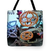 Lighted Circles Tote Bag