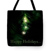 Lighted Dewdrops Holiday Greeting Card Tote Bag