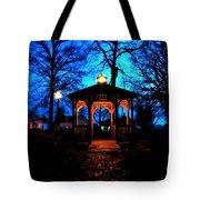 Lighted Gazebo Sunset Park Tote Bag