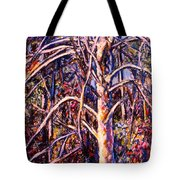 Lightening Struck Tree Tote Bag