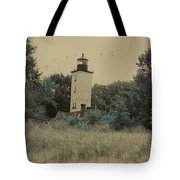 Erie Lighthouse Among The Trees Tote Bag