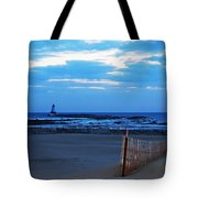 Lighthouse And Beach Tote Bag