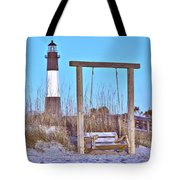 Lighthouse And Swing Tote Bag