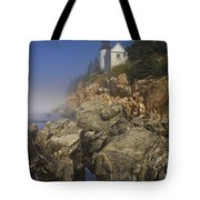 Lighthouse At Bass Harbor Maine Tote Bag