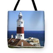 Lighthouse At Europa Point Gibraltar Tote Bag