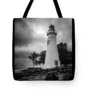 Lighthouse At Marblehead Tote Bag