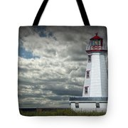Lighthouse At North Cape On Prince Edward Island Tote Bag
