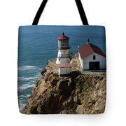 Lighthouse At Point Reyes Tote Bag