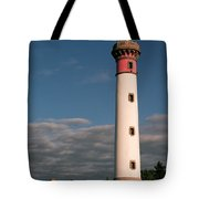 Lighthouse At Ouistreham Tote Bag