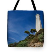 Lighthouse At Saint-jean-cap-ferrat France French Riviera Tote Bag