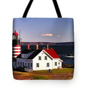 Lighthouse At West Quoddy Head Tote Bag
