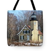 Lighthouse At White River Tote Bag