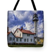 Lighthouse At Whitefish Point Tote Bag