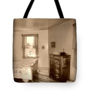 Lighthouse Bedroom In Sepia Tote Bag