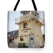 Lighthouse Cafe In North Rustico Tote Bag