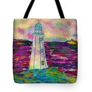 Lighthouse Digital Color Tote Bag