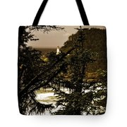 Lighthouse From The Distance Tote Bag