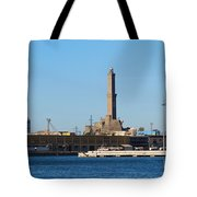 Lighthouse In Genova. Italy Tote Bag
