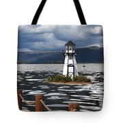 Lighthouse In Lake Dillon Tote Bag
