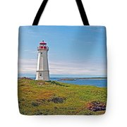 Lighthouse In Louisbourgh-ns Tote Bag