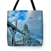 Lighthouse In Saint Joseph Michigan Tote Bag