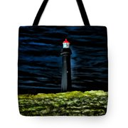 Lighthouse In The Night Tote Bag