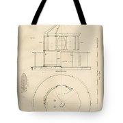 Lighthouse Lantern Drawing Tote Bag