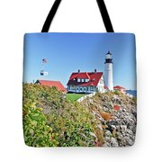 Lighthouse Of Maine Tote Bag