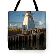 Lighthouse On A Channel By Cascumpec Bay On Prince Edward Island No. 095 Tote Bag