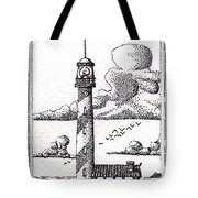 Lighthouse On A Cliff Bookmark Tote Bag