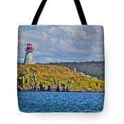 Lighthouse On Brier Island In Digby Neck-ns Tote Bag