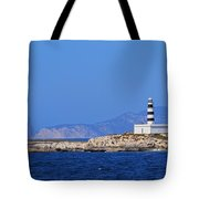 Lighthouse On Isla De Es Penjats Tote Bag